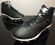 5c93534ea1e3 JORDAN RETRO 7 VII FOOTBALL CLEATS TD SIZE 11.5 BLACK WHITE MENS 719543-010
