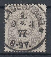 CHE 38670) PLAUEN I/SACHSEN * 1 * LUXUS Stempel 1877 auf Mi.-Nr. 36 a/1 hellgrau