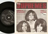 THE SUPREMES HEAR A SYMPHONY & ONLY SIXTEEN DANISH 45+PS 1965 MOD NORTHERN SOUL