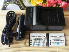 2 DB-L80 Battery &Charger for SANYO Xacti VPC-CG10 VPC-CG102 VPC-CG20 VPC-CS1