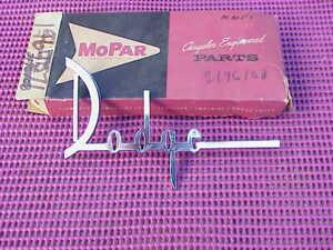 1960 Dodge NOS MoPar DECKLID NAMEPLATE EMBLEM Seneca Pioneer Phoenix Matador