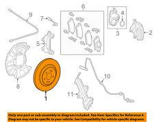 MERCEDES OEM 14-17 S63 AMG Rear Brake-Rotor 2224232012
