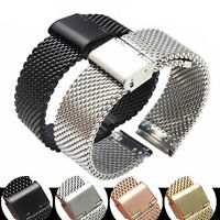 Stainless Steel Bracelet Strap Watch Mesh Replacement Band 18 20 22 24 mm FT