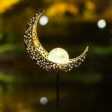 LED Garden Solar Lights Pathway Outdoor Moon Crackle Fast. Lamp Glass Lawn U4D3