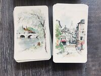 Vintage Hallmark Double Deck Playing Cards Parisian Tax Stamp Plastic