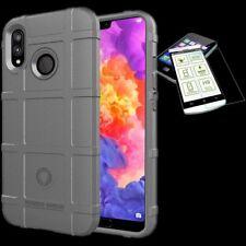 Para Huawei Honor 8X Bolsa Shield TPU Funda de Silicona Gris + 0,26mm H9