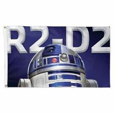 """Disney's Star Wars Wincraft 3' X 5' Deluxe """"R2D2"""" Flag With Metal Grommets NEW!"""