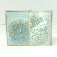 Hallmark Peacock Bridge Playing Cards Complete decks jokers plastic case vintage