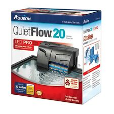 Aqueon QuietFlow 20 Aquarium Filter - 5-stage Filtration for Up to 30 Gallons
