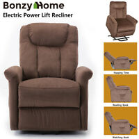 Power Lift Recliner Chair for Elderly Thick Padded Sofa Living Room Furniture
