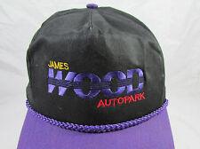 Vintage James Wood Autopark Trucker Hat/Cap Adjustable Snapback