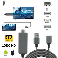 For iPhone/iPad/Android/IOS/Tab 4K HDMI Mirroring Cable Phone to TV HDTV Adapter