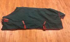 "Rambo Horseware Ireland Original Turnout Blanket 84"" 7' 1000D Green & Red"
