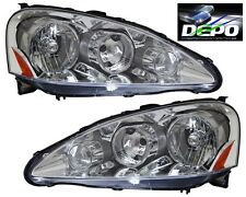 05-06 Acura RSX DC5 Chrome Clear OE Style Headlight DEPO PAIR