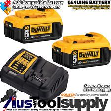 Dewalt Battery & Charger 18V 20V 5Ah Lithium Ion & XR Elec  DCB184 DCB205 DCB115