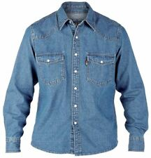 Duke Denim Shirts Stonewash in Size 1xl to 6xl 3xl