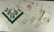 Estate Lot Kitchen Textile Cotton Linen Embroidery Printed Towels & Tablecloth