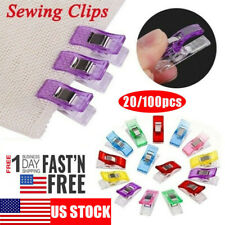 20/100PCS Plastic Sewing Clips Clamp for Craft Quilting Sewing Knitting Crochet