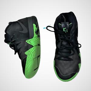 Nike Kyrie 4 Black Halloween Green Boy's Basketball Sneakers Size 7Y AA2897-012
