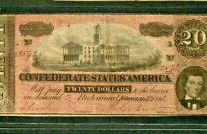 "$20 ""CONFEDERATE"" 1800'S $20 (NICE) ""CONFEDERATE"" 1800'S $20 ""CONFEDERATE"" $20"