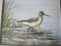 Original Painting Paul Makuchal Waterfowl Sandpiper Competition Quality Framed