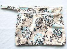 Wet Dry Travel Bag Clutch,Creams,Mama Cloth Menstrual Pad, Diaper Nappy Foliage