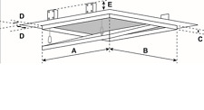 FF Systembau Revisionsklappe 60 x 40 x 2 cm NUR Rahmen ohne Gips, aushängbar