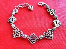 BRIGHTON  Heart  Silver Link Bracelet