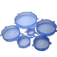 6 pezzi / impostato da cucina in silicone riutilizzabile conservazione degl P9B1