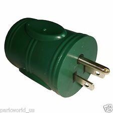 Parkworld 885019 Generator Adapter 3-Prong 5-15P Male to Locking L5-20R Female