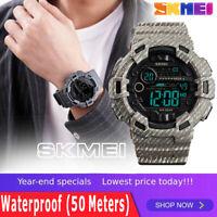 SKMEI Men's Military Sport Watches Fashion Outdoor Digital LED Watch Waterproof