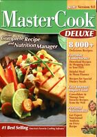 Master Cook Deluxe 9.0 Pc New Boxed XP 8000+ Recipes Personal Nutritionist Easy