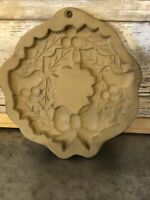 Brown Bag Cookie Art Mold - 1988 Hill Design - Christmas Wreath