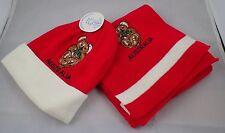 Aussie Blue Australian Souvenir Red Beanie Hat and Scarf w/ Koala for Child