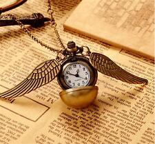 Harry Potter Hogwarts Gold Schnatz Taschenuhr Uhr Cosplay Jungen Mädchen