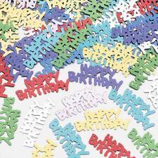 14g Multicolore Metalique joyeux anniversaire confettis de table décoration