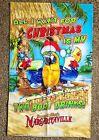 Margaritaville Jimmy Buffet Christmas Holiday Parrot Large Flag Banner 2' x 3'