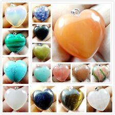 25*25MM Multicolored Heart agate PENDANT GEMSTONE LOOSE BEADS necklace R2