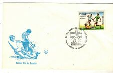 Peru 1986 FDC World Cup Soccer Mexico