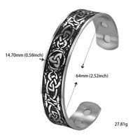 Stainless Steel Trinity Celtic Knot Bracelet Cuff