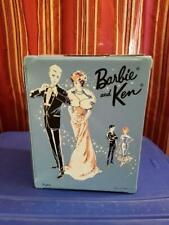 Vintage Barbie Blue Double Doll Carry Case