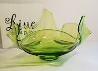 1960's Viking Epic Drape Green Glass Decorative Bowl