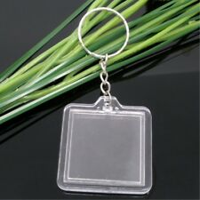 NEW Clear Photo Frame Pendant Key Ring Key Chain Keyring Car Keychain Square