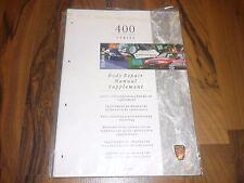 Neuer ROVER Serie 400 ab 1995 Karosserie Instandsetzung WERKSTATT HANDBUCH
