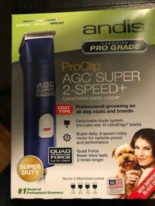 Andis ProClip AGC Super 2-Speed+ Detachable Blade Clipper - Blue Brand New