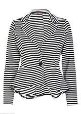 New Ladies Crop Frill Shift Slim Fit Peplum Blazer Jacket Coat Size Small - 3XL