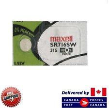 0% Mercury Sr716Sw 315 Cdn Seller 1 Pc Maxell 315 Watch Batteries