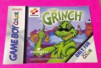 The Grinch  - Nintendo Game Boy Color Instruction MANUAL ONLY No Game