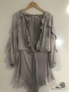Zimmermann Stunning Silk Wrap Playsuit Size 1