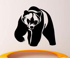 Grizzly Bear Wall Decal Vinyl Sticker Wild Animals Interior Art Decor (10bgr1)